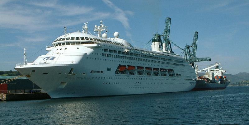 Crown Princess at Greenock Ocean Terminal