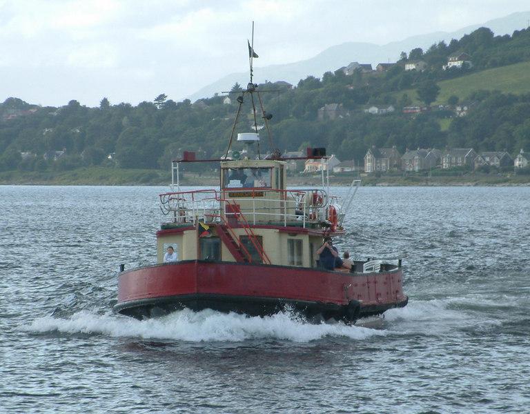 Clyde Marine ferry Kenilworth sailing from Kilcreggan to Gourock.
