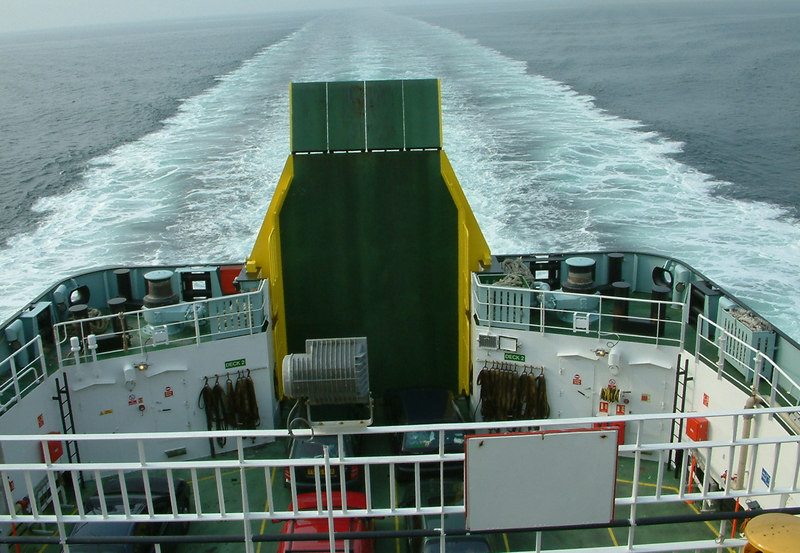 View aft from Hebrides as he heads for Uig