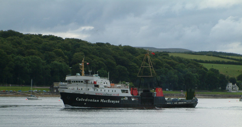 Jupiter approaching Rothesay in her 30th year of Clyde service