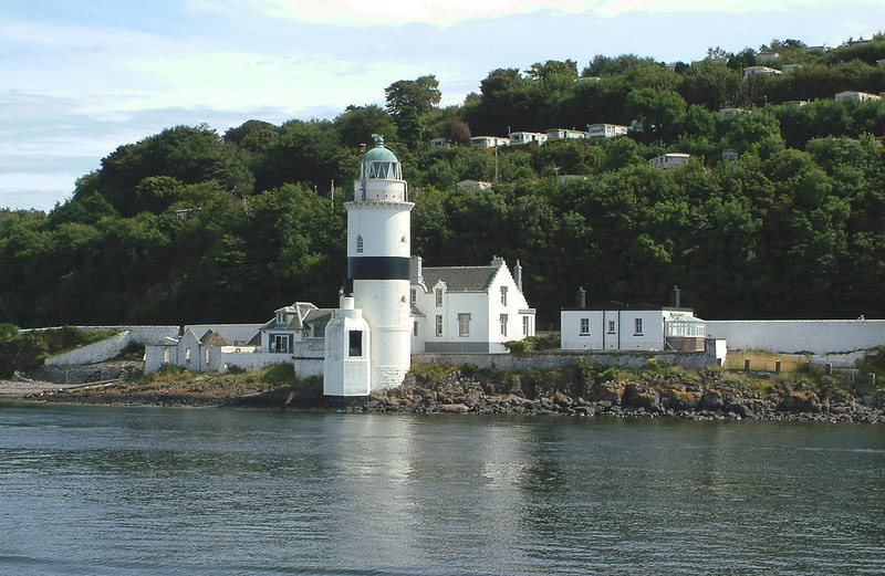 Cloch lighthouse, a prominent landmark of the Clyde since 1796, as seen from Waverley sailing from Greenock to Largs