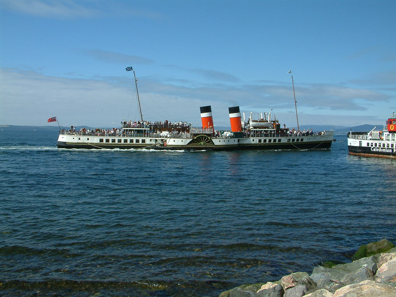 Waverley arriving at Largs