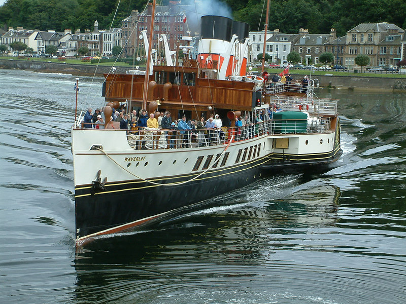 Waverley arriving at Rothesay on the Isle of Bute