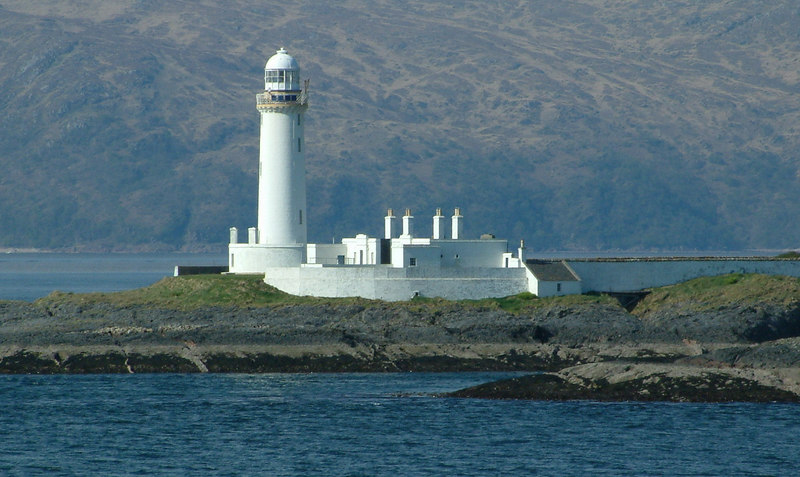 The lighthouse on Eilean Musdile that marks the southern end of Lismore and the confluence of sea routes from the Firth  of Lorne, Loch Linnhe, the  Sound of Mull and Oban Bay