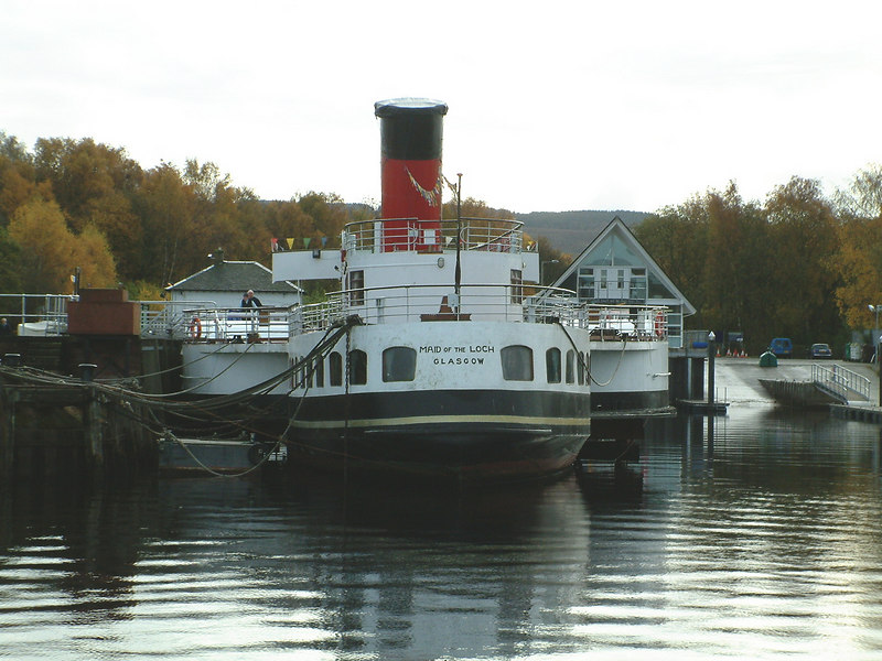 The partly restored paddle steamer Maid of the Loch at 50 - from the Lomond Duchess