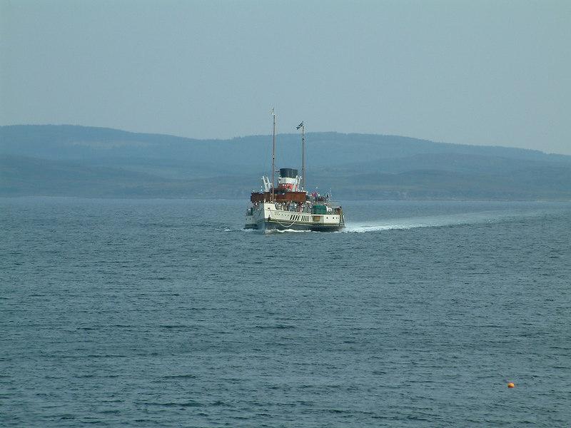Waverley approaching Tarbert on Loch Fyne