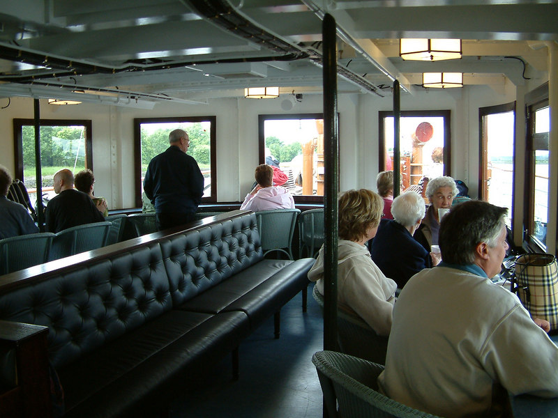 Waverley's newly restored forward deck saloon
