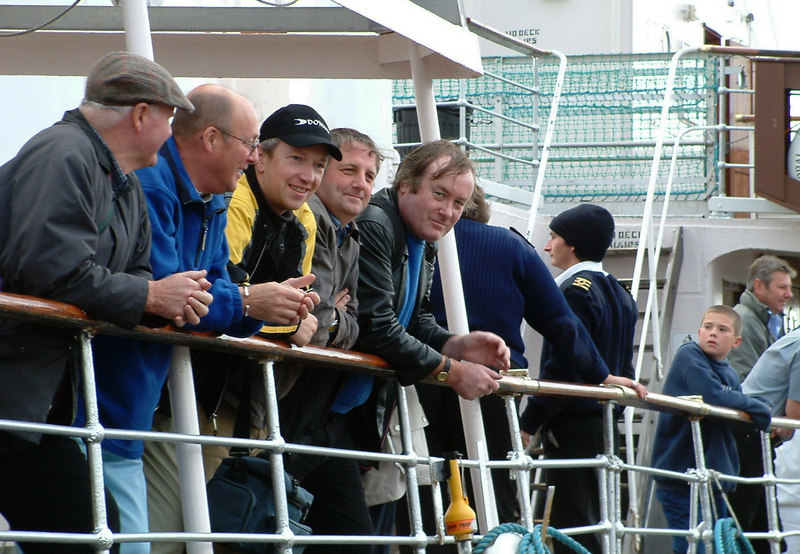 A long-established favourite pastime on the Clyde 'steamers' - hingin' ower the taffrail watching the world go by.