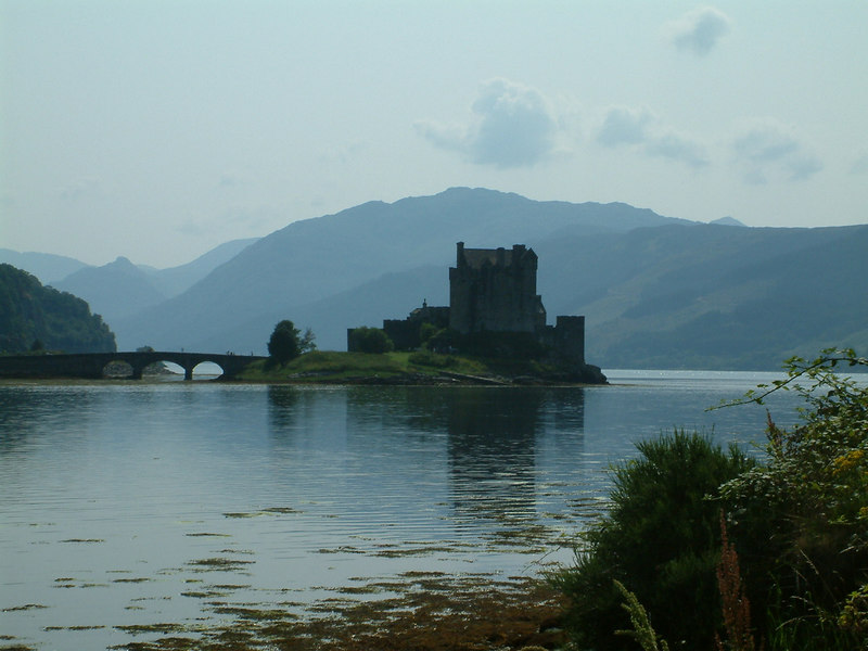 Past Eilean Donan Castle on the way to Uig for a first visit to the new CalMac ferry Hebrides.