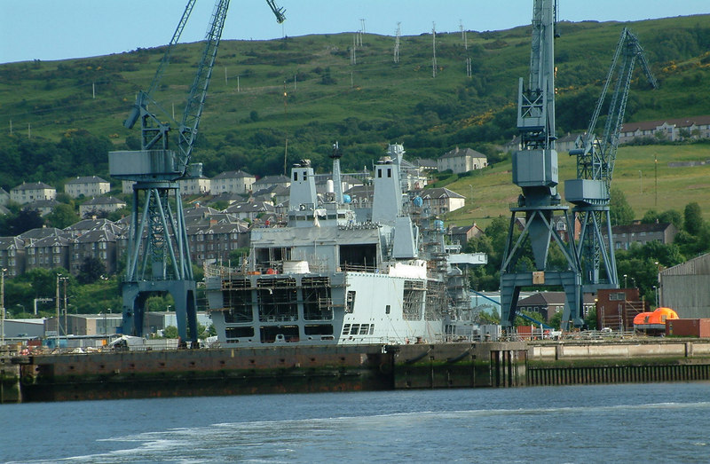The large Royal Fleet Auxillary vessel Fort George was stemmed into the Inchgreen Drydock at Greenock in 2003 for a significant refit.