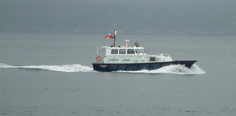 The new Clydeport pilot cutter Mount Stuart during her first week of service.