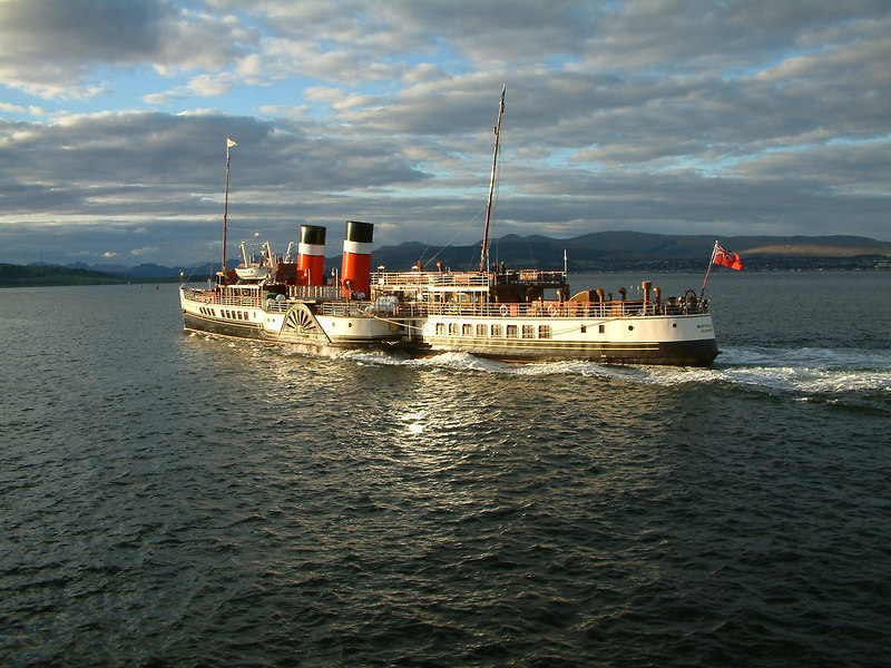 Waverley leaving Greenock for Dunoon, Cowal Games Saturday, 2003