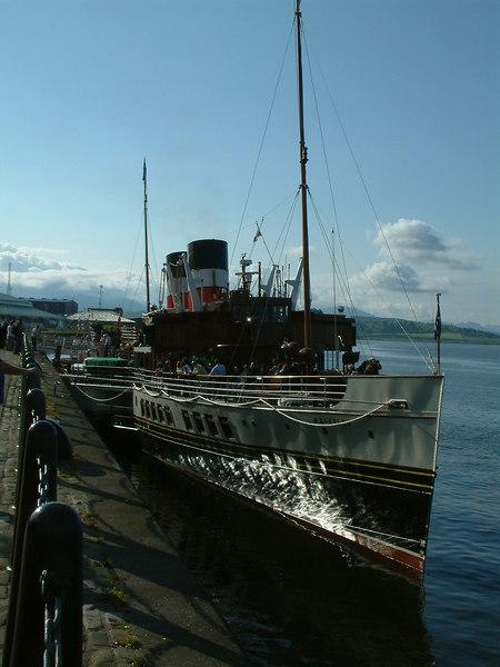 Waverley at Greenock Customhouse Quay