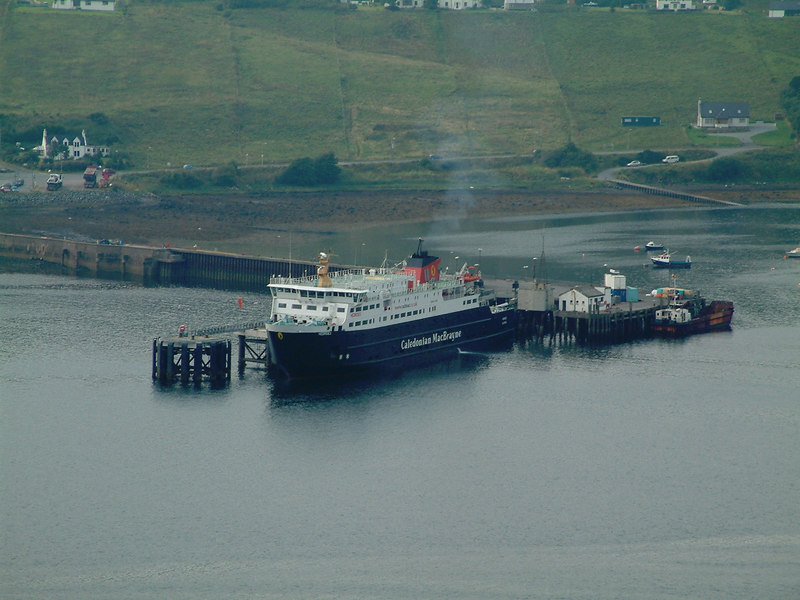 Hebrides at Uig Ferry Terminal, the berth used by the previous Hebrides is on the right