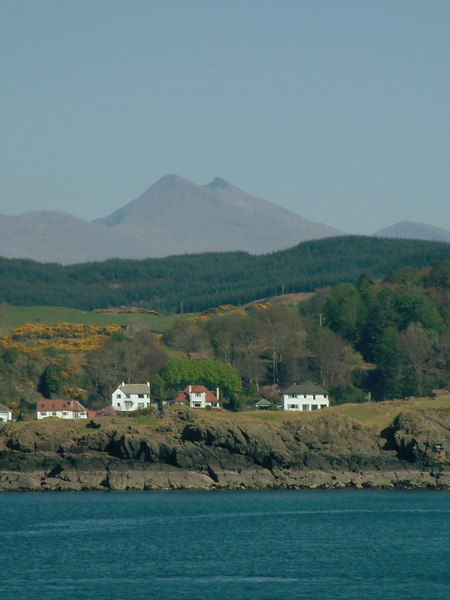 Ben Cruachan from Isle of Mull on her way back into Oban