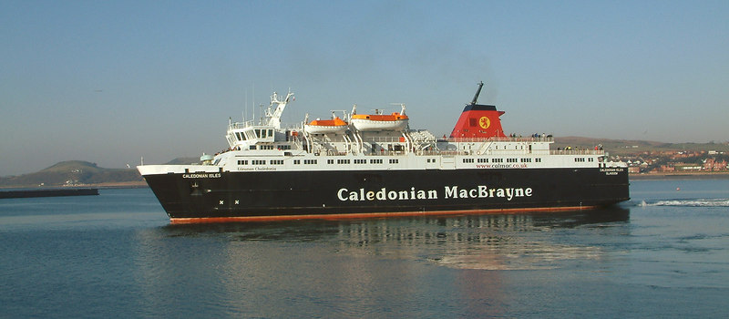 Caledonian Isles departing from Ardrossan for Arran