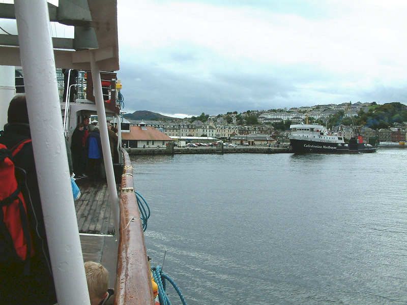 View from Balmoral approaching Rothesay