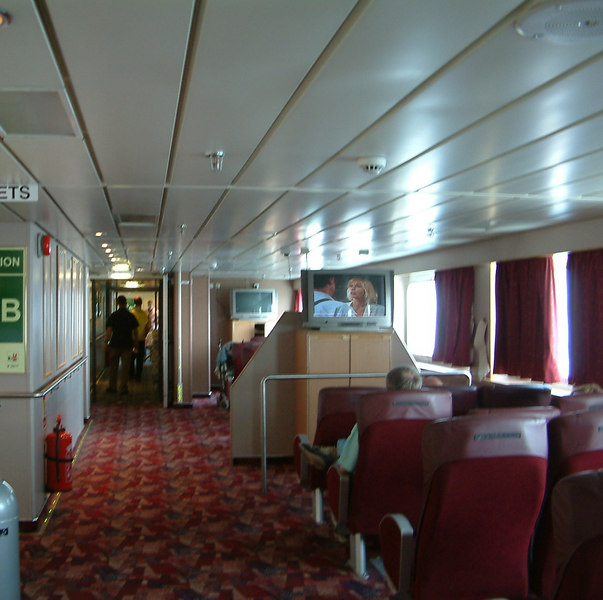 Passenger accommodation on motor vessel Hebrides