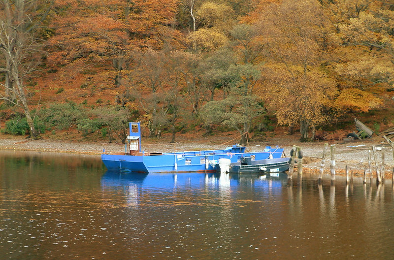 Loch Lomond ferry - for transferring goods to one of the inhabited islands in the southern part of the loch.