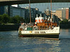 Waverley canting in the River Clyde at Glasgow below Kingston Bridge