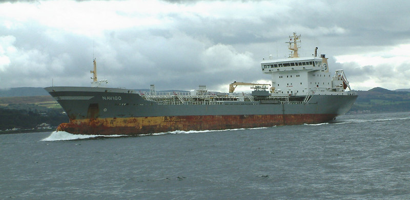 Tanker Navigo inbound to Finnart in Loch Long