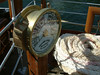 Waverley's aft docking telegraph manufactured in 1947 by Mechans Limited, Scotstoun, Glasgow