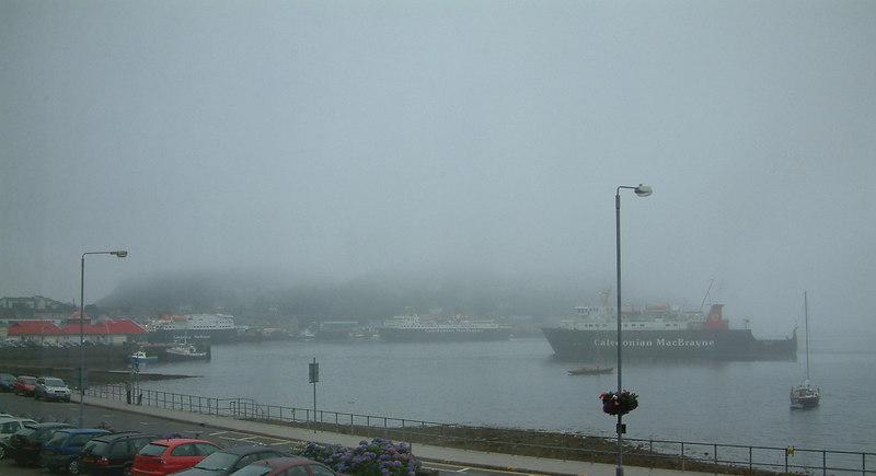 Foggy morning in Oban Bay