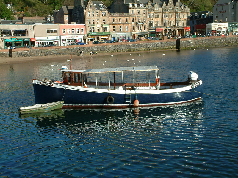 Serenity, another veteran Oban pleasure craft - a former fishing vessel.