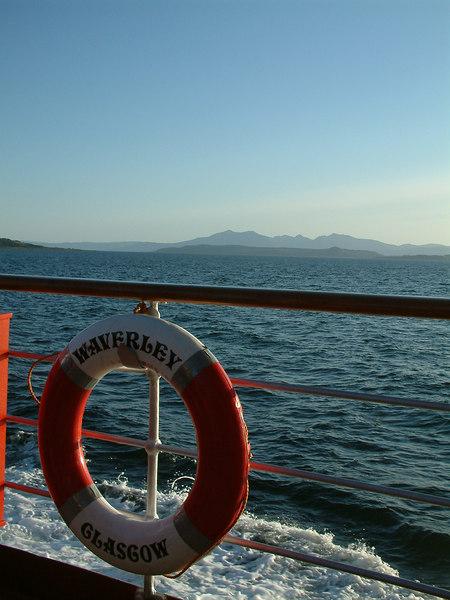 PS Waverley of Glasgow and the Arran hills
