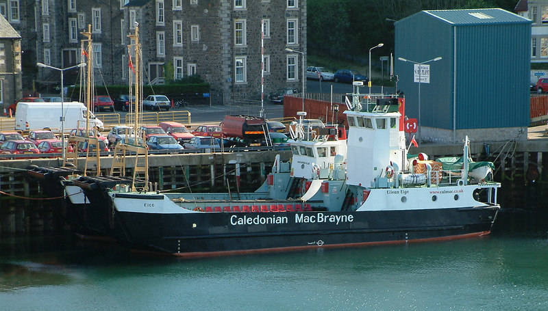 Two survivors of the 1970s fleet of eight - Eigg and Bruernish - at Oban. Eigg's wheelhouse was heightened in the 1990s.