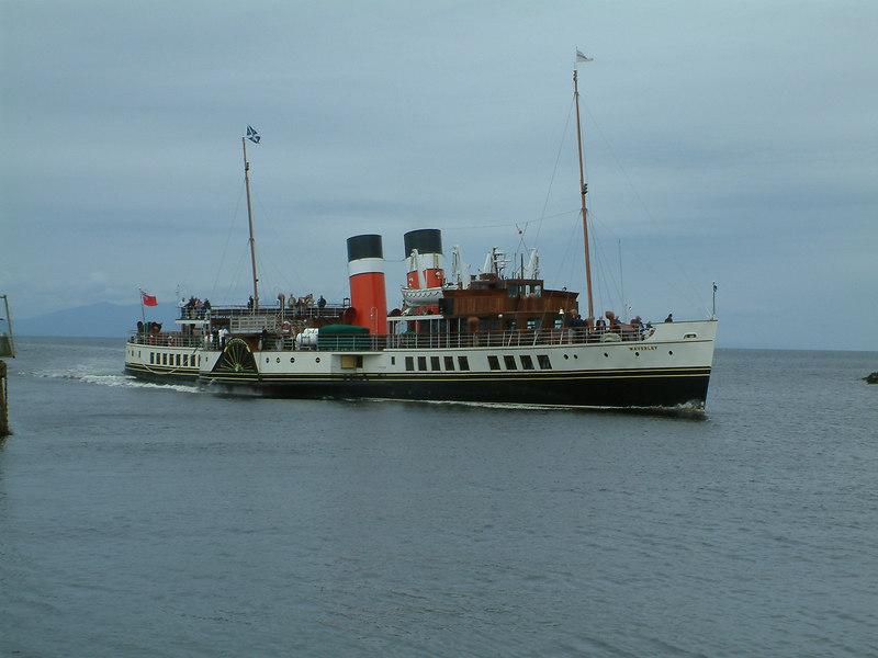 Waverley entering Ayr Harbour