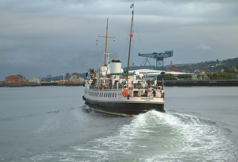 Balmoral departing Greenock for Glasgow