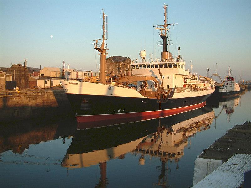 Pharos and CalMac's former Skye ferry Loch Dunvegan, also a mid 90s product of Ferguson Shipbuilders in James Watt Dock