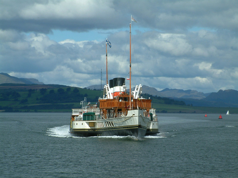 Waverley returning from Dunoon to Greenock, Cowal Games Saturday, 2003