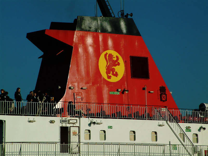 Caledonian MacBrayne funnel livery which first appeared 30 years earlier in 1973.