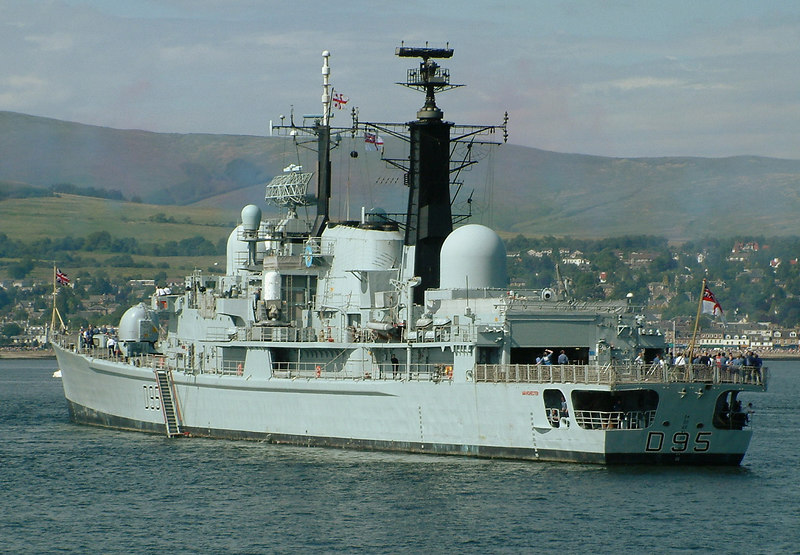 HMS Manchester off Helensburgh