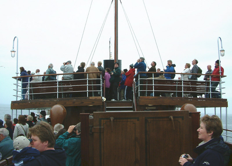 Waverley's passenger are generally engrossed by the impressive sights of Ailsa Craig