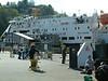 Springtime visit to Oban with car ferry Clansman alongside Oban Ferry Terminal - formerly Oban Railway Pier -