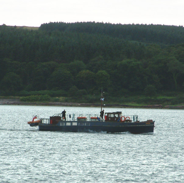 Former David MacBrayne Tobermory-Mingary passenger ferry Lochnell by then in private ownership on the Clyde