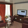 Penthouse Suite 1015/interactive TV in sitting area.