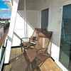 Penthouse Suite 1015/The slant of the ship gives some more sun on the verandah.