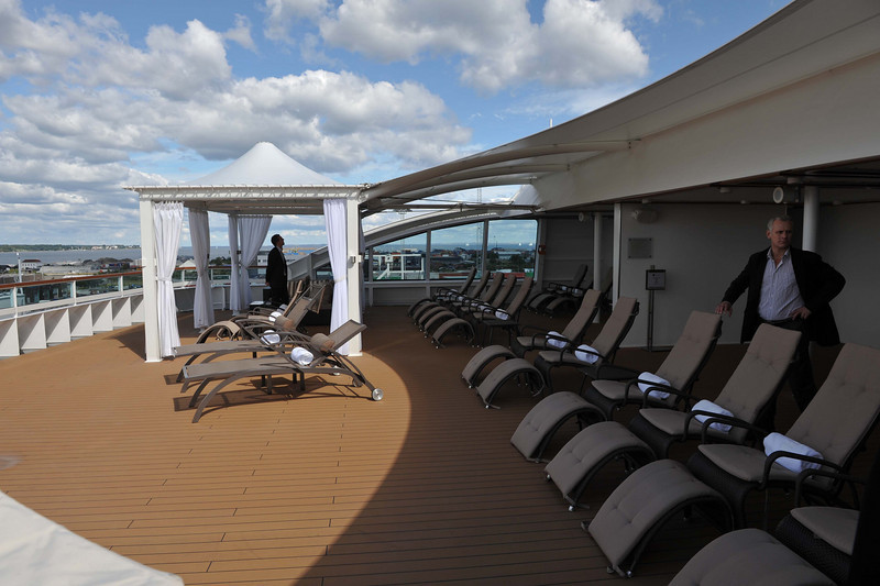 The Spa.  The Exclusive rear deck