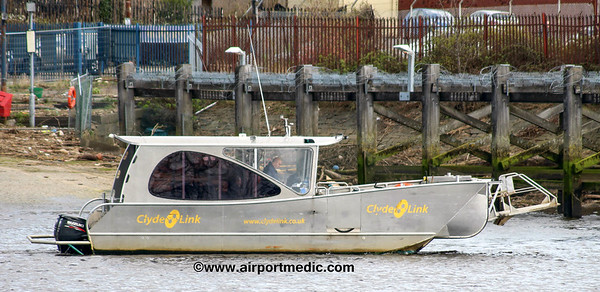 Renfrew Ferry On the River Clyde