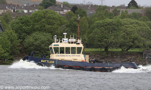 Clyde Tug Battler of Clyde Marine Services Ltd