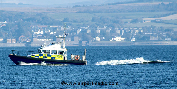 MOD police Patrol Boat on the River Clyde