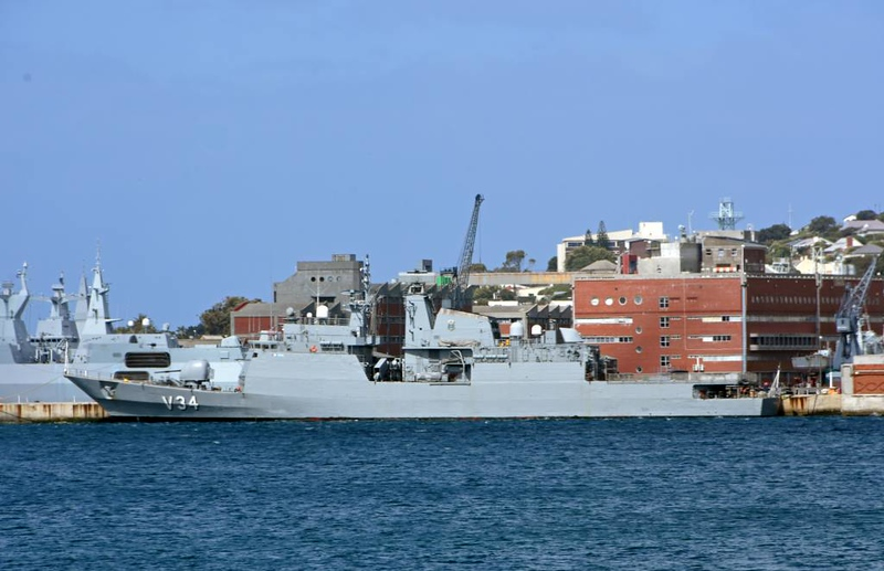Brazilian corvette V34 Barroso, Simon's Town, 13 September 2018.  Built in Rio de Janeiro and commissioned in 2008.