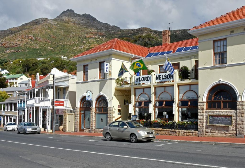 The Lord Nelson, Simon's Town, 13 September 2018.  It was flying Brazilian and Uruguayan flags because warships from those countries were in port.