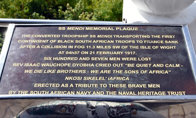 SS Mendi memorial, Simon's Town, 13 September 2018 2.