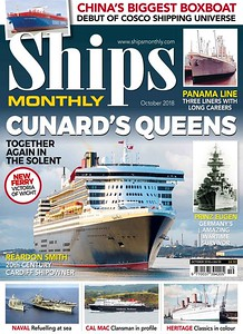 Was very happy and proud that one of my pictures of Queen Mary 2 was used on the front cover of 'Ships Monthly' October 2018!
