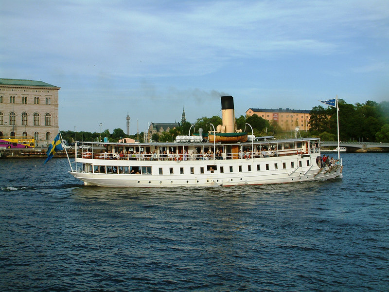 SS Blidosund leaving Stockholm 28 07 2006